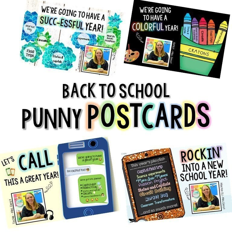 Rockin' into a new school year: FREE Editable Back to School
