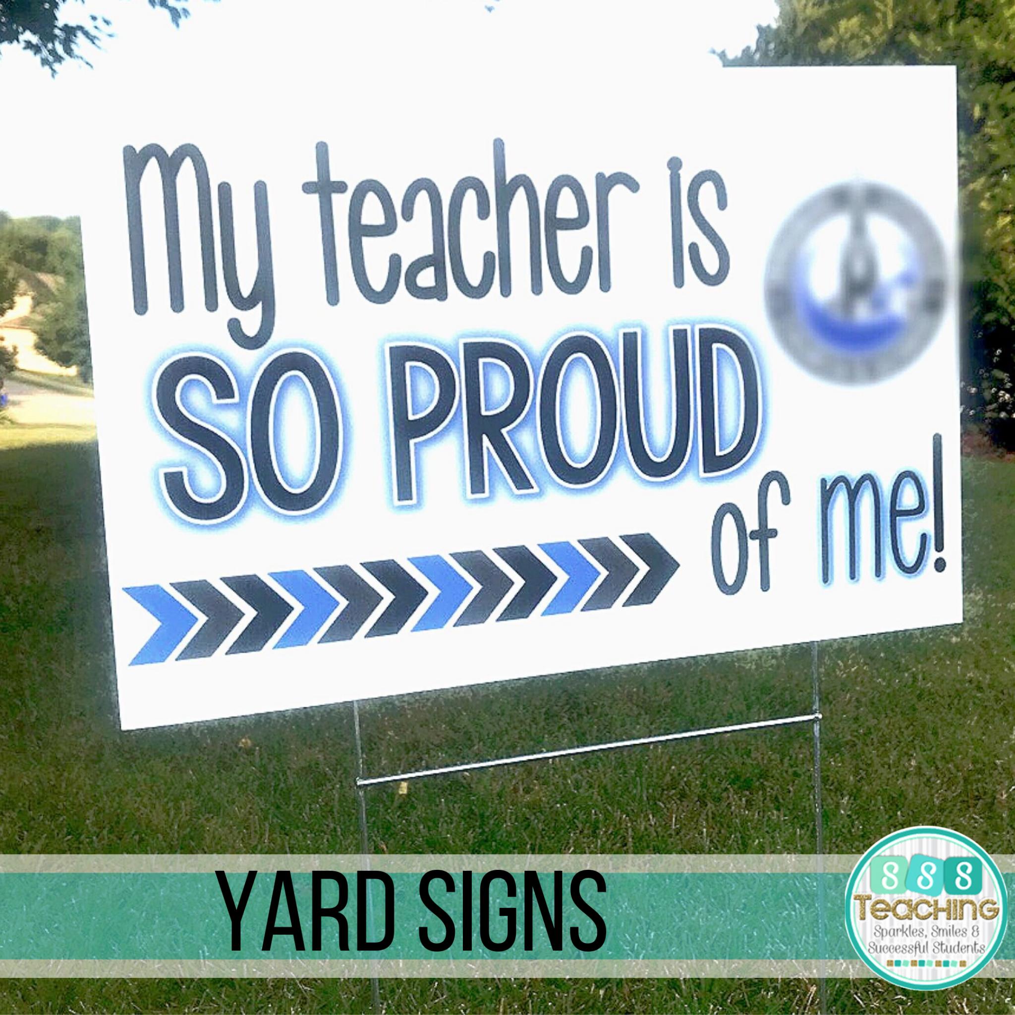 Teacher Appreciation Yard Sign Thank You Teachers Outdoor Lawn Sign 1 Piece