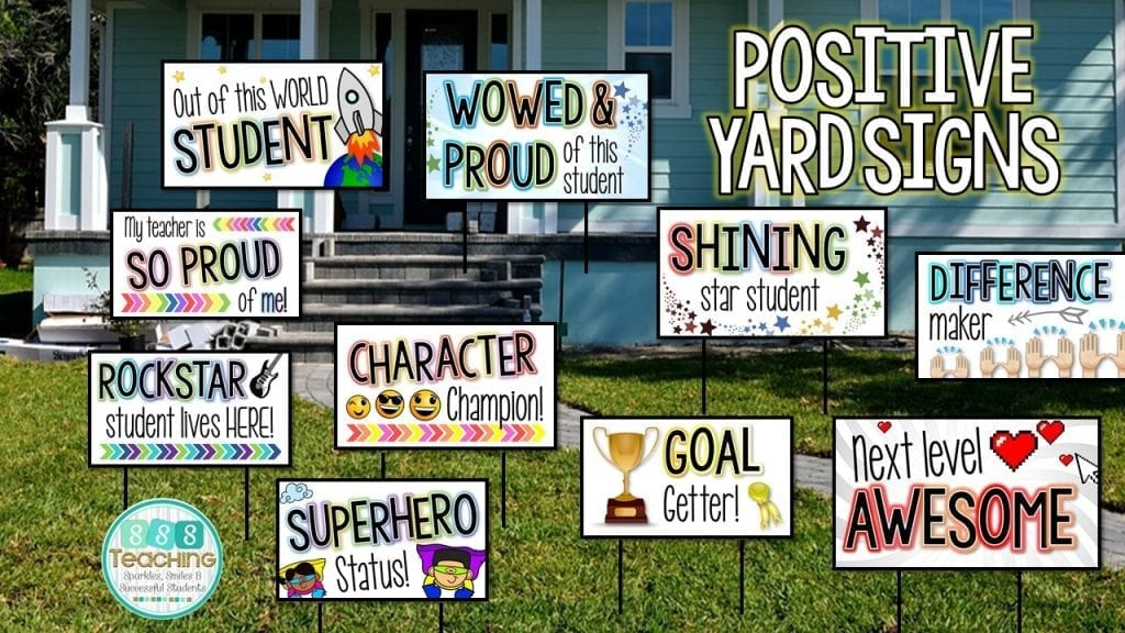Show off Your Students! Easy Lawn signs to Build School Community ...